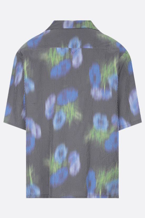 KENZO: Coquelicot cotton blend bowling shirt Color Green_2