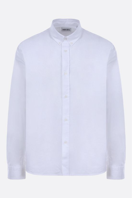 KENZO: Tiger Crest cotton shirt Color White_1