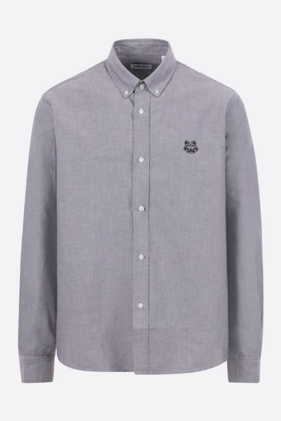 KENZO: Tiger Crest cotton shirt Color Grey_1