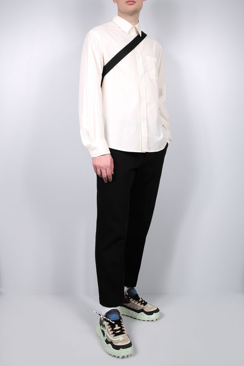 KENZO: K embroidered cotton shirt Color Neutral_2