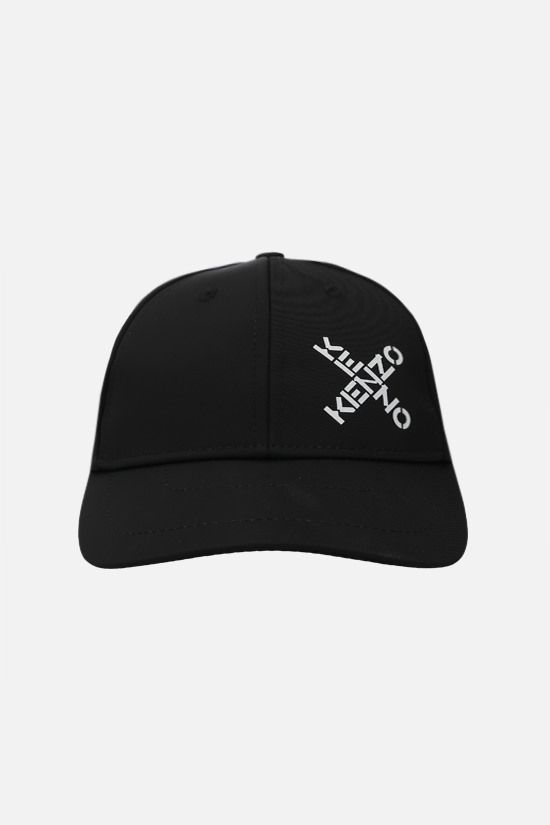 KENZO: Little X nylon baseball cap Color Black_1