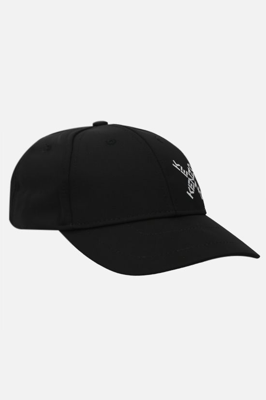 KENZO: Little X nylon baseball cap Color Black_2