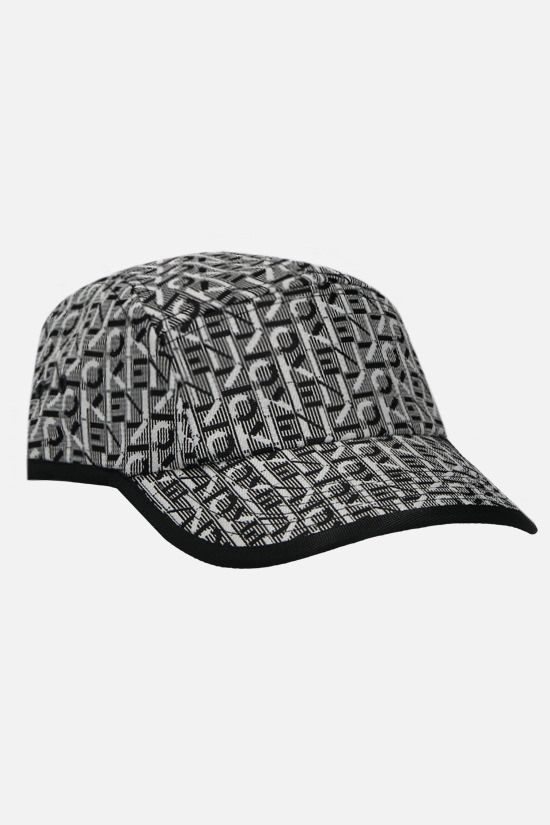 KENZO: Kenzo Trek logoed fabric baseball cap Color Black_2
