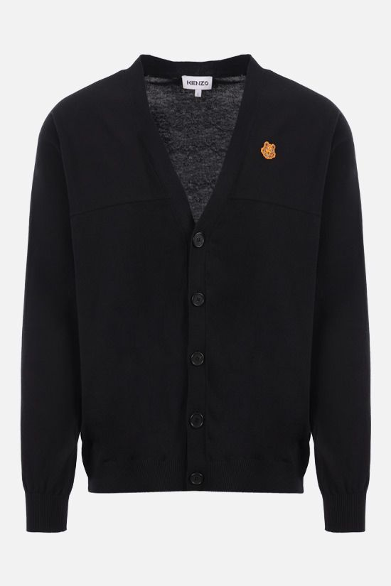 KENZO: Tiger Crest cotton cardigan Color Black_1