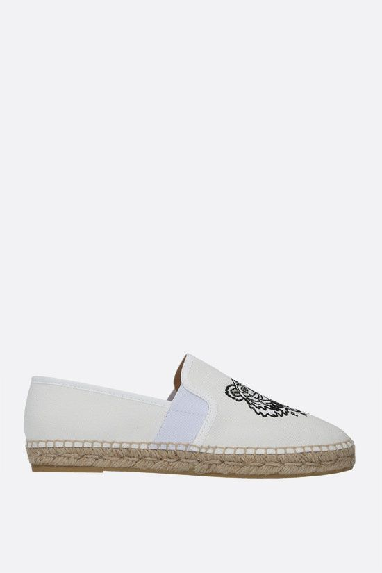 KENZO: Tiger canvas espadrilles Color White_1