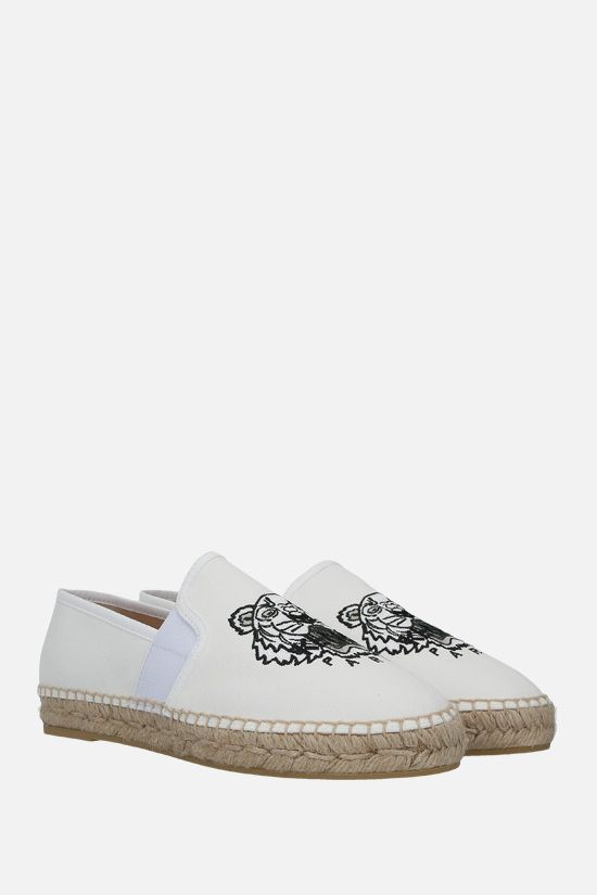 KENZO: Tiger canvas espadrilles Color White_2