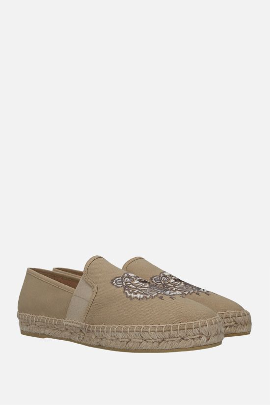 KENZO: Tiger canvas espadrilles Color Neutral_2