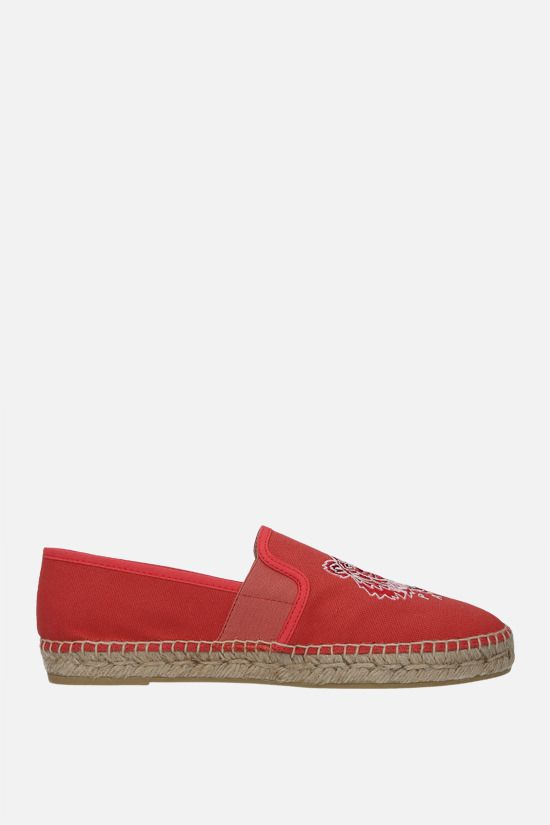 KENZO: Tiger canvas espadrilles Color Pink_1