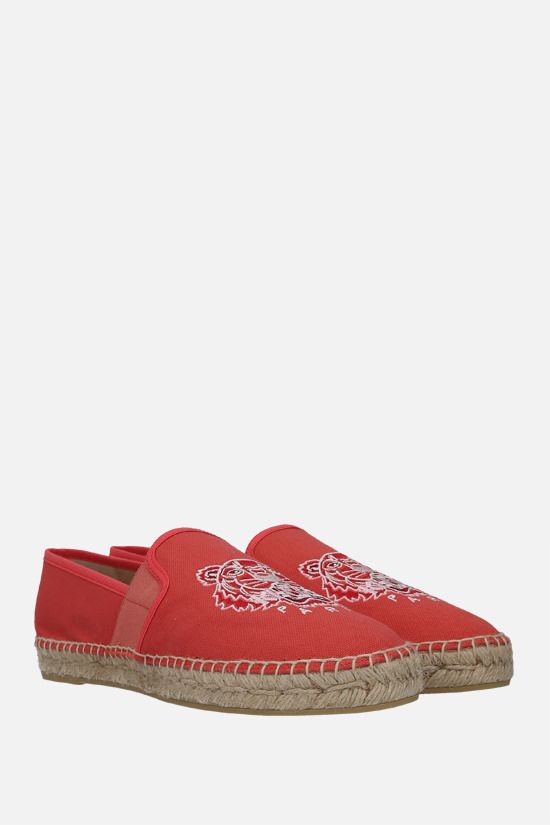 KENZO: Tiger canvas espadrilles Color Pink_2