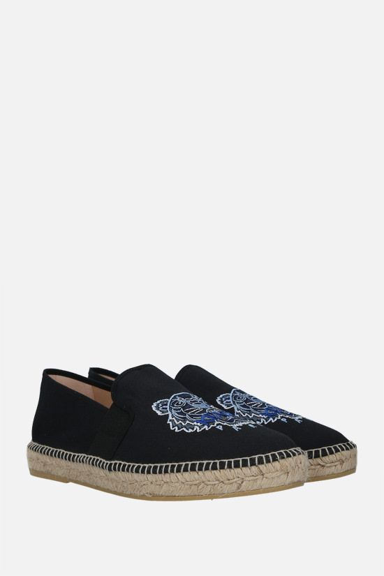 KENZO: Tiger canvas espadrilles Color Black_2