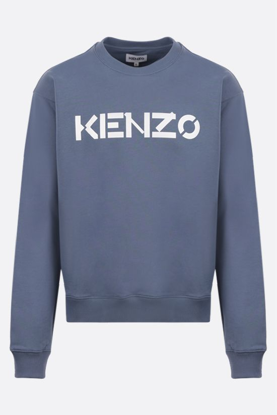 KENZO: Kenzo Logo cotton sweatshirt Color Blue_1