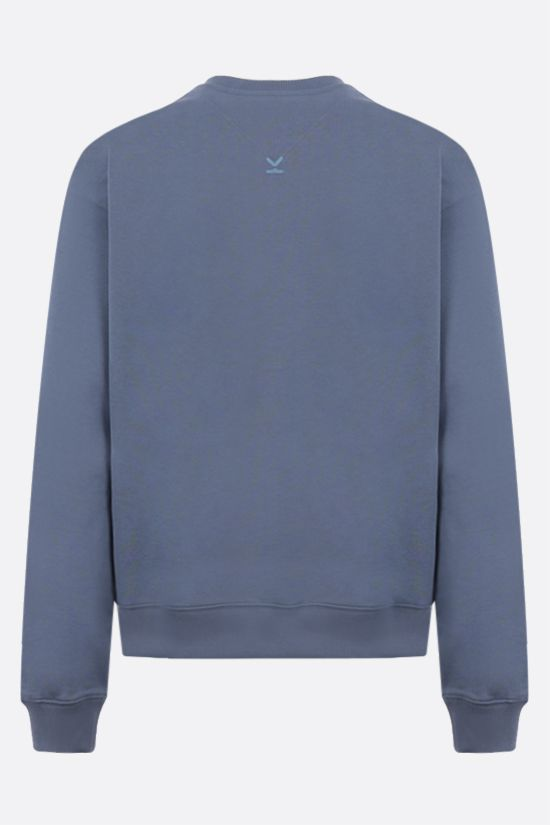 KENZO: Kenzo Logo cotton sweatshirt Color Blue_2