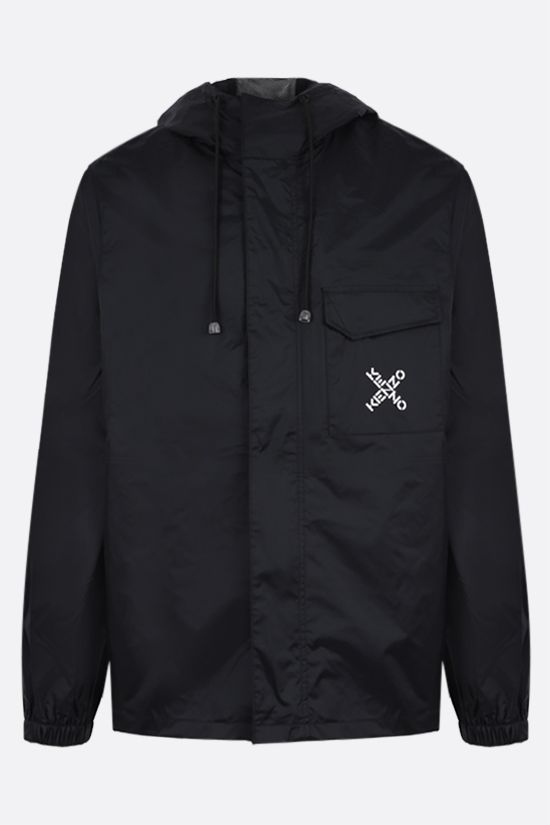 KENZO: Kenzo Sport nylon windbreaker Color Black_1