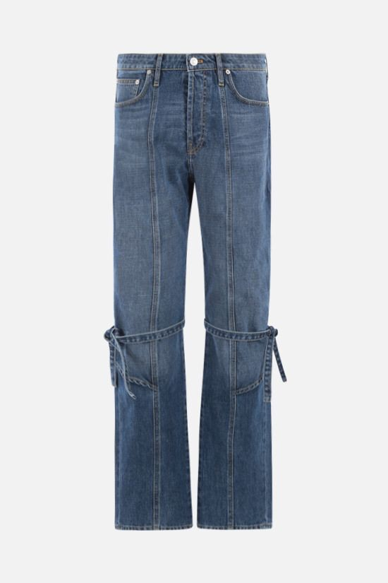 KENZO: lace-detailed straight-leg jeans Color Blue_1