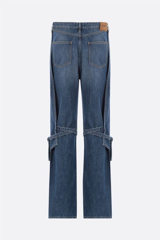 KENZO: lace-detailed straight-leg jeans Color Blue_2