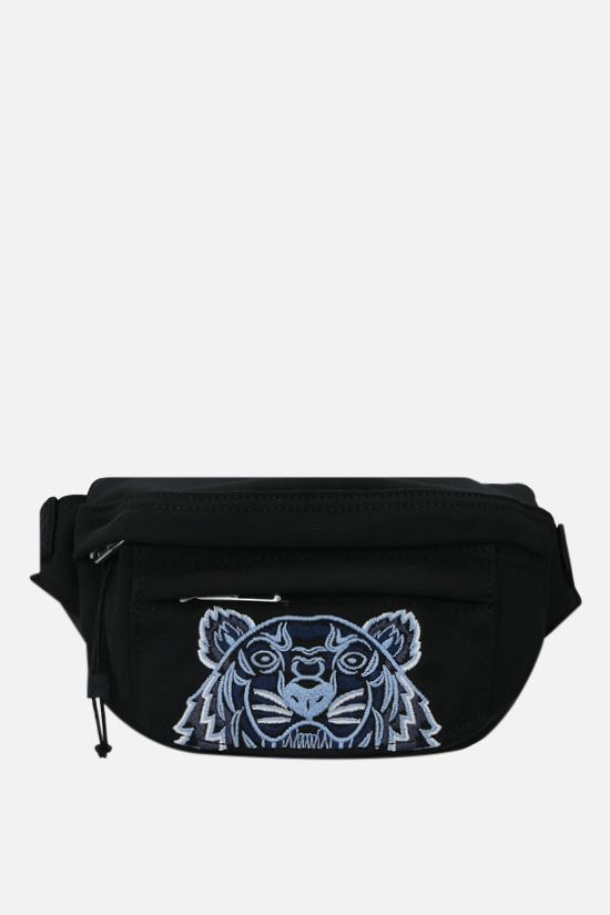 KENZO: marsupio Kampus Tiger small in nylon Colore Nero_1
