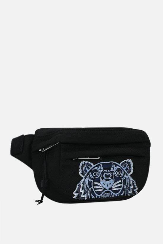 KENZO: Kampus Tiger small nylon belt bag Color Black_2