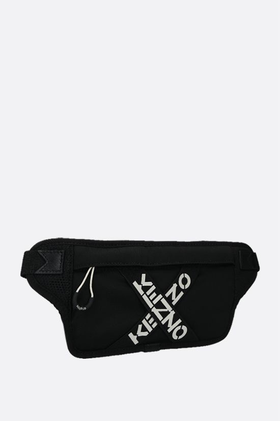 KENZO: Kenzo Sport Big X nylon belt bag Color Black_2