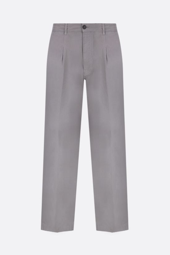 KENZO: cotton chino pants Color Grey_1
