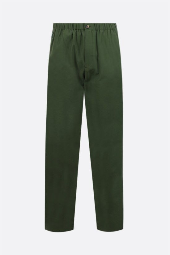KENZO: technical cotton joggers Color Brown_1