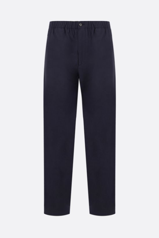 KENZO: technical cotton joggers Color Blue_1