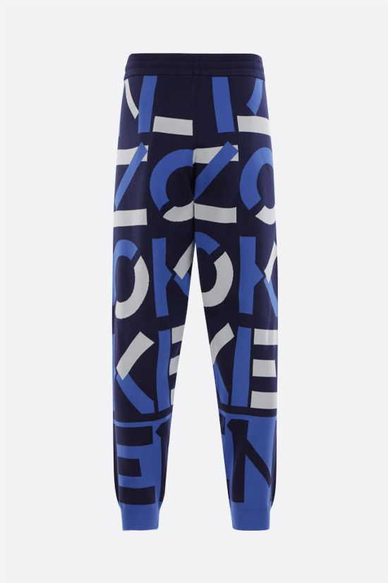 KENZO: Kenzo Sport Monogram cotton blend joggers Color Blue_2