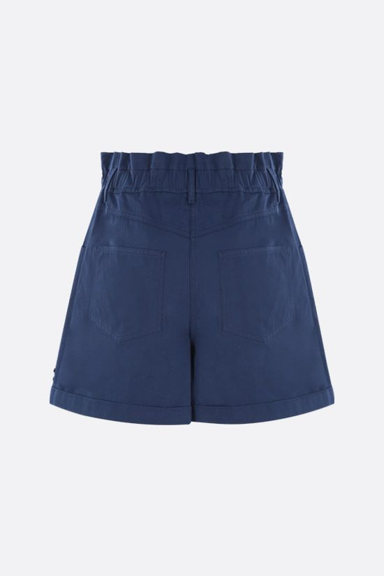 KENZO: K-embroidered cotton shorts Color Blue_2