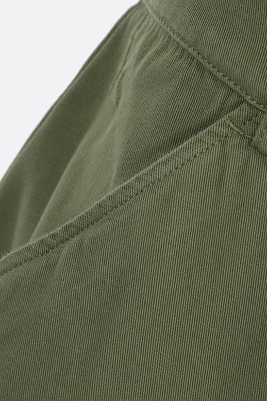 KENZO: K embroidered cotton shorts Color Green_3