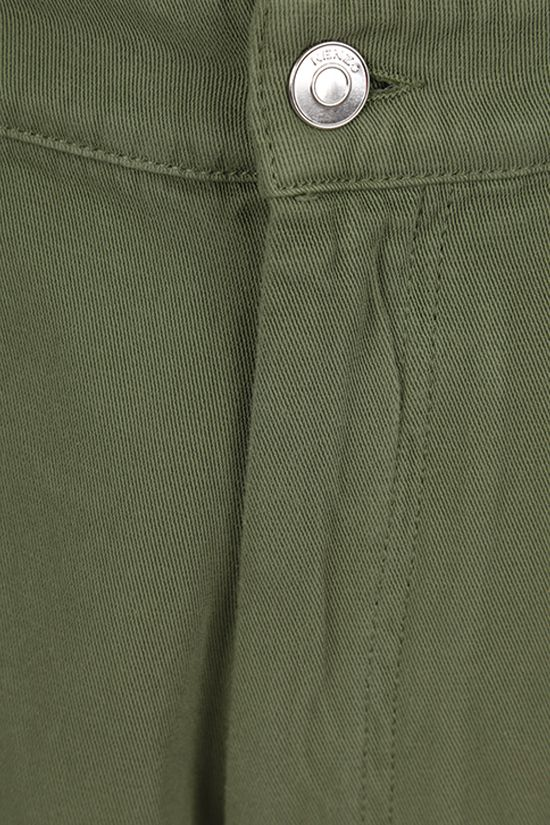 KENZO: K embroidered cotton shorts Color Green_4