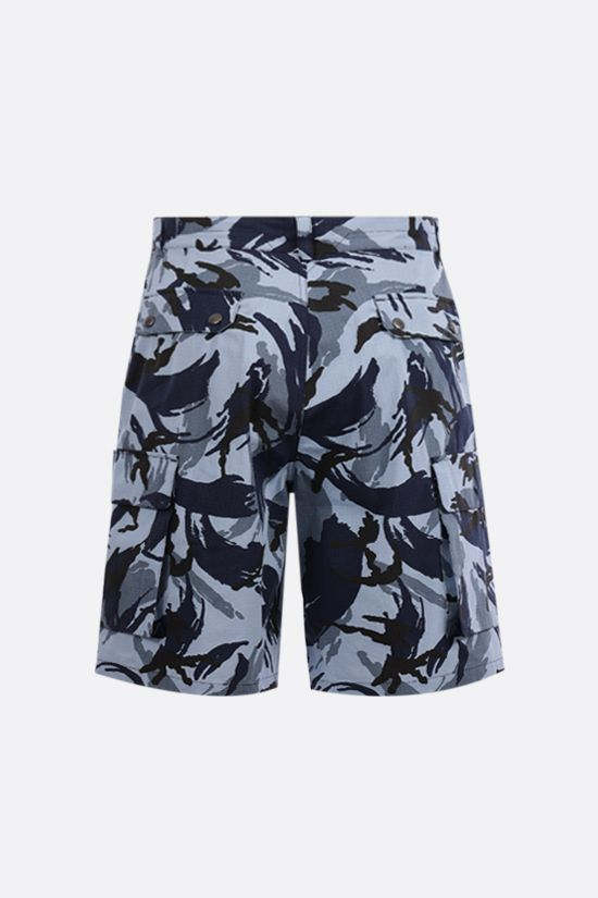 KENZO: Tropic Camo ripstop cotton shorts Color Blue_2