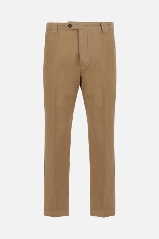 KENZO: cotton cropped pants Color Neutral_1