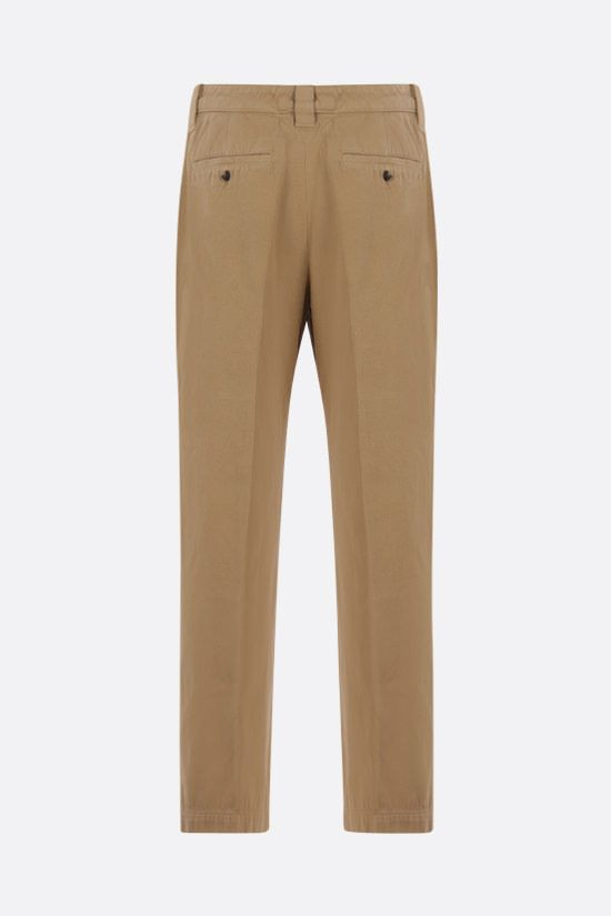 KENZO: cotton cropped pants Color Neutral_2