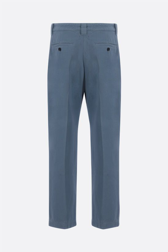 KENZO: cotton cropped pants Color Blue_2