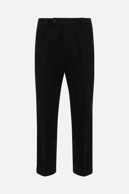 KENZO: cotton cropped pants Color Black_1