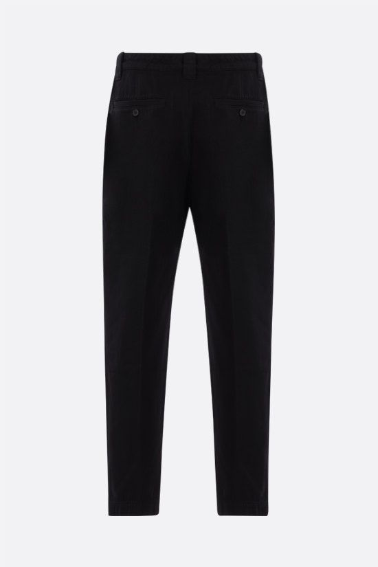 KENZO: cotton cropped pants Color Black_2
