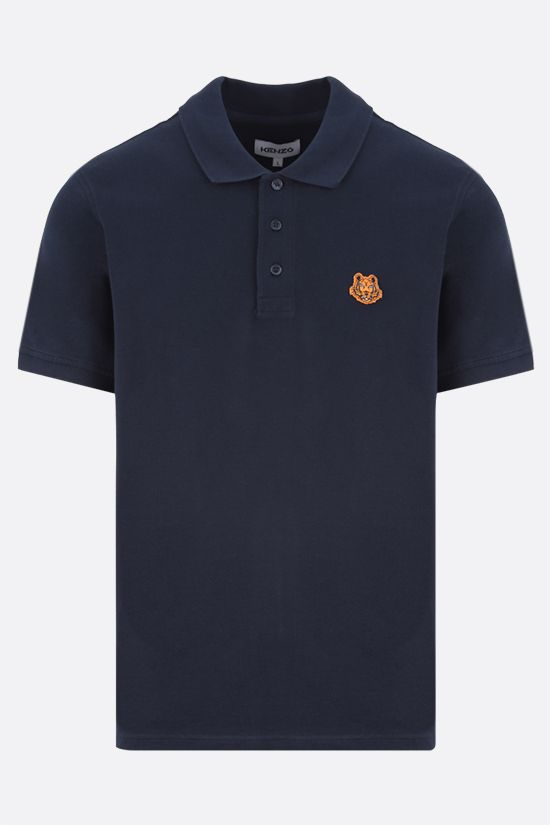 KENZO: Tiger Crest cotton polo shirt Color Blue_1