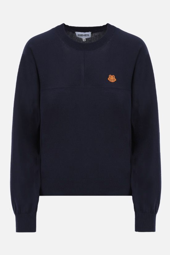 KENZO: Tiger Crest cotton pullover Color Blue_1