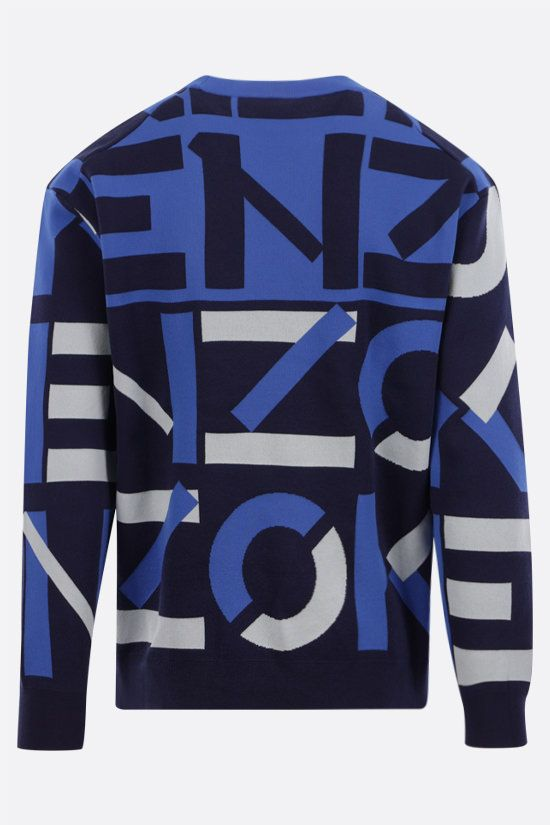 KENZO: Kenzo Sport Monogram cotton blend pullover Color Blue_2