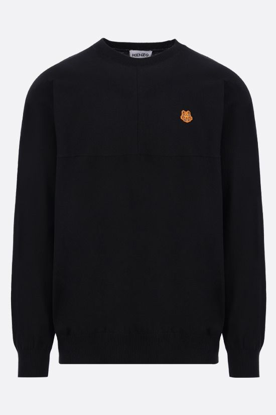 KENZO: Tiger Crest cotton pullover Color Black_1