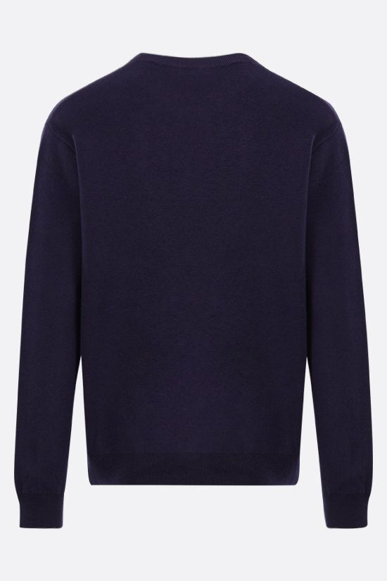 KENZO: Tiger cotton wool blend pullover Color Blue_2