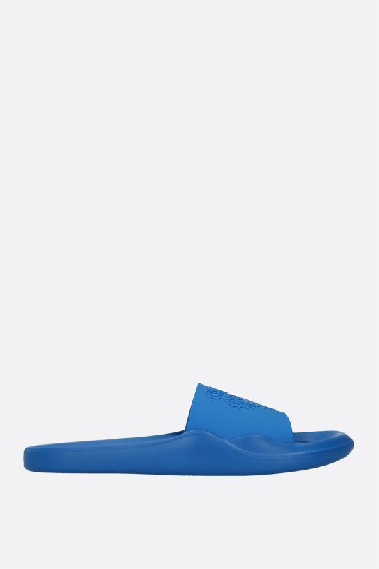 KENZO: Tiger rubber slide sandals Color Blue_1