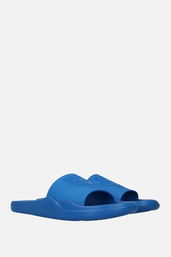 KENZO: Tiger rubber slide sandals Color Blue_2