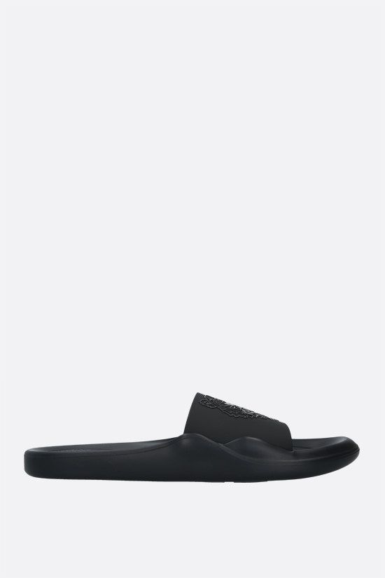 KENZO: Tiger rubber slide sandals Color Black_1