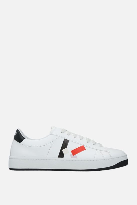 KENZO: Kenzo Kourt smooth leather sneakers Color Red_1