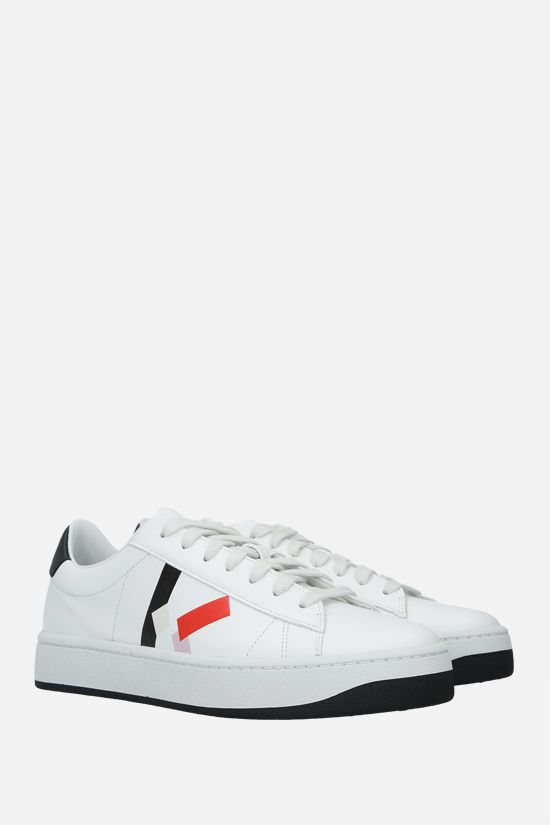 KENZO: Kenzo Kourt smooth leather sneakers Color Red_2