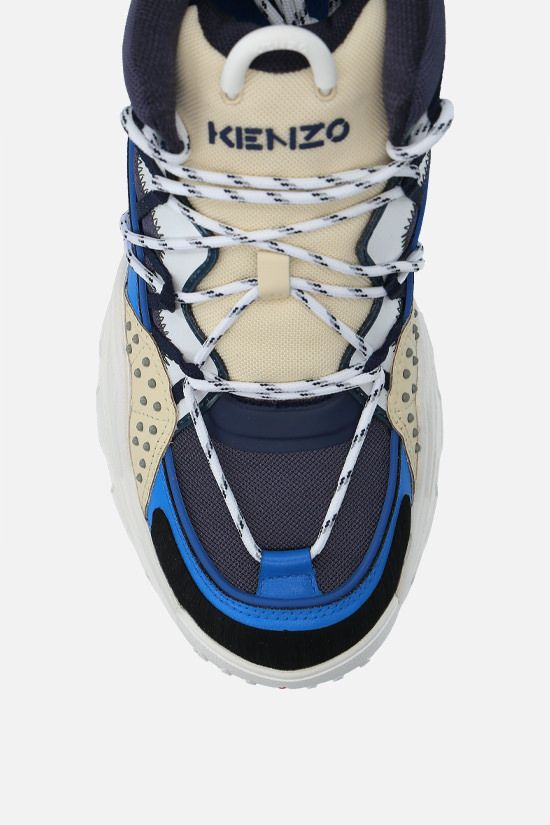 KENZO: Inka mesh and rubber sneakers Color Blue_5