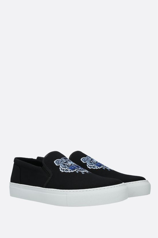 KENZO: K-Skate Tiger canvas slip-on sneakers Color Black_2