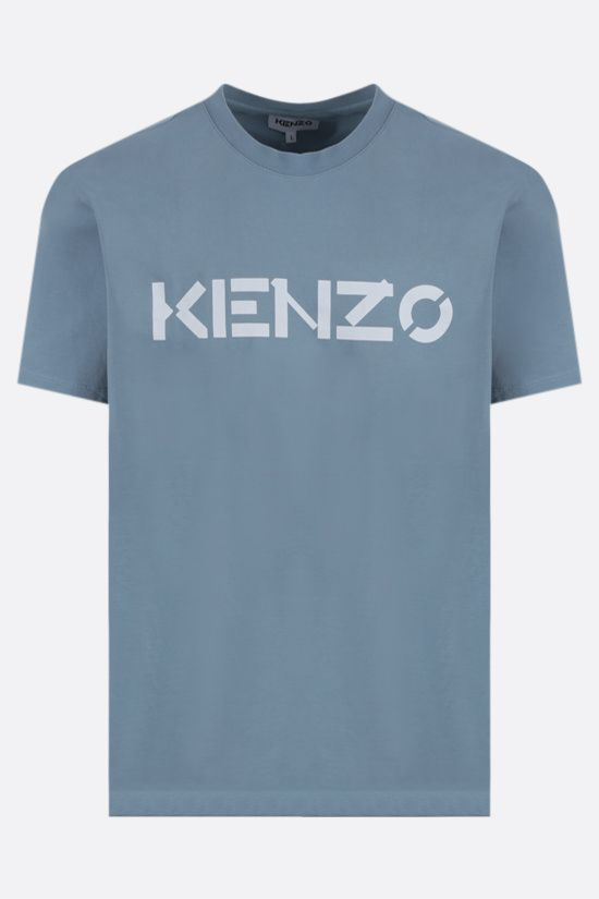 KENZO: Kenzo Logo cotton t-shirt Color Neutral_1