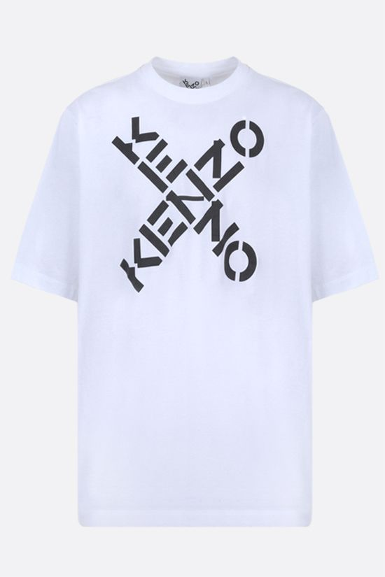 KENZO: Kenzo Sport Big X oversize cotton t-shirt Color White_1