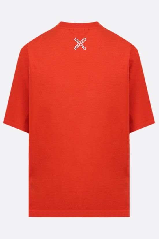KENZO: Kenzo Sport Big X oversize cotton t-shirt Color Orange_2